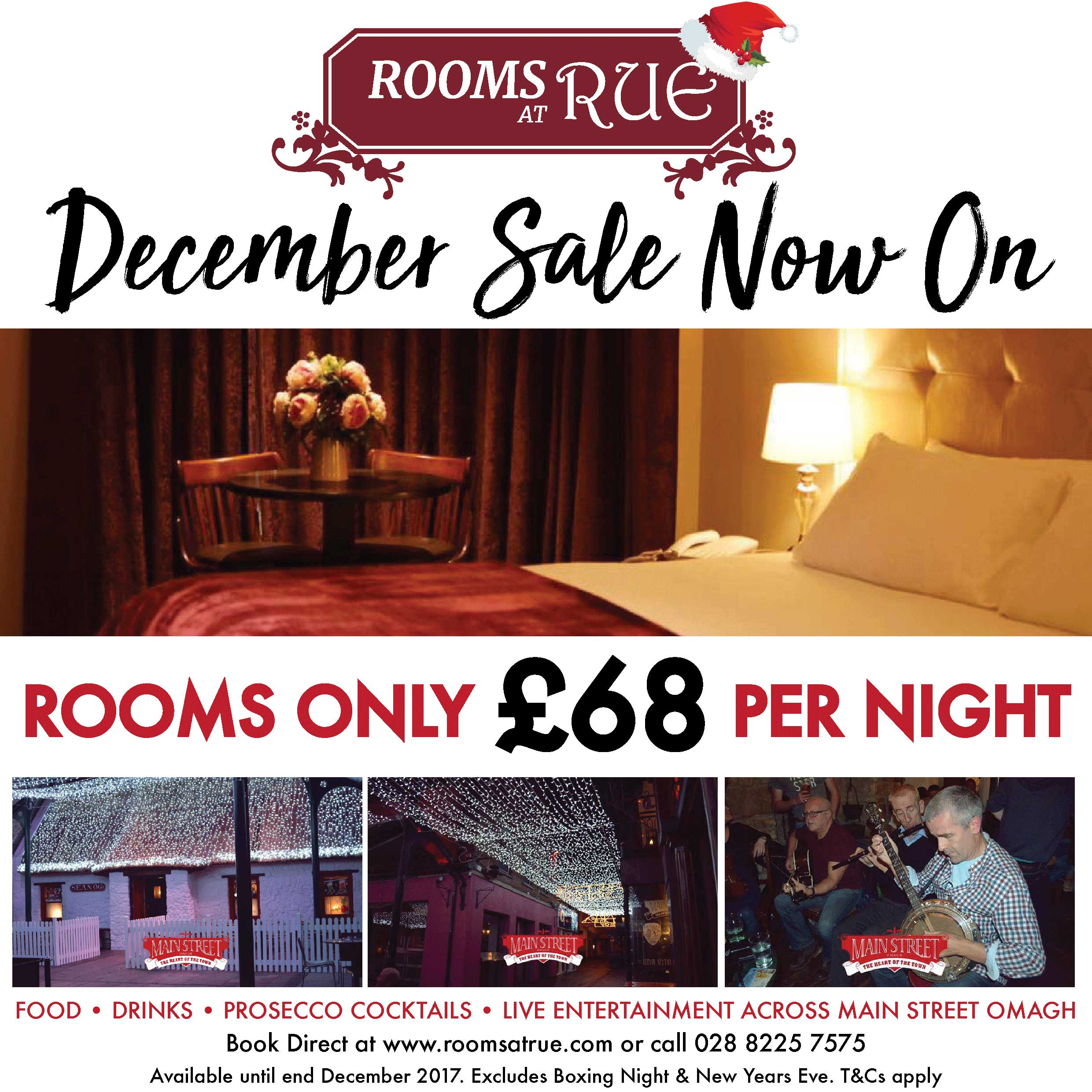 December rooms sale Rooms at Rue