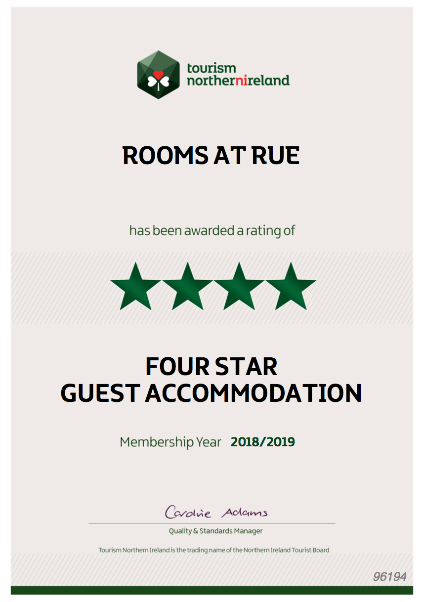 Rooms at Rue 4 Star Rating